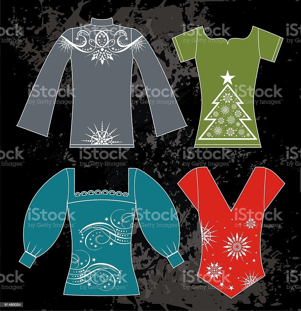 xmas clothes royalty-free stock vector art
