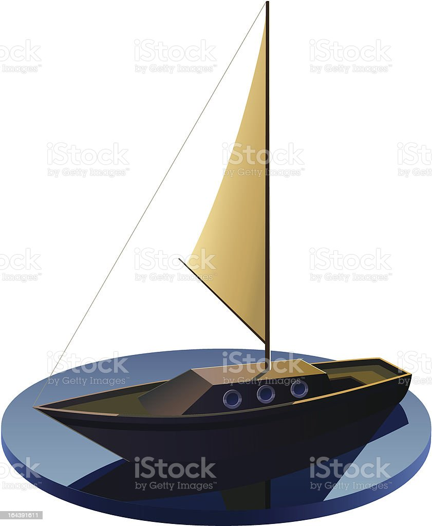 Yacht royalty-free stock vector art