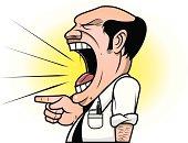 Yelling angry boss