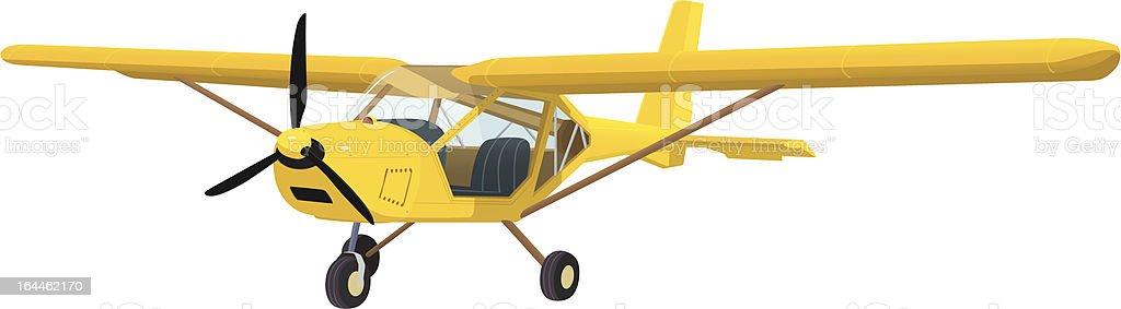 Yellow airplane royalty-free stock vector art