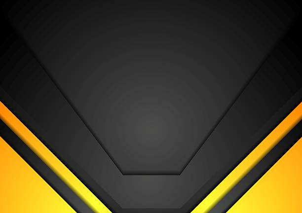 Yellow and black corporate art background vector art illustration