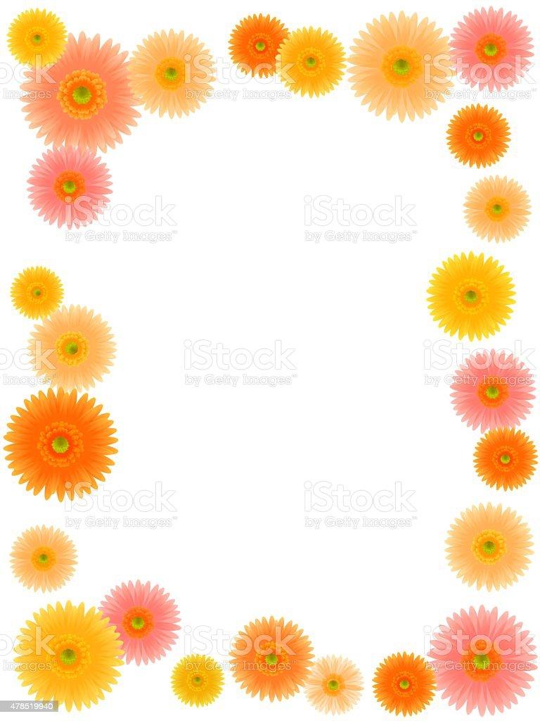 Super Flores Amarelas E Laranja Ilustração De Moldura - Arte vetorial de  MW42