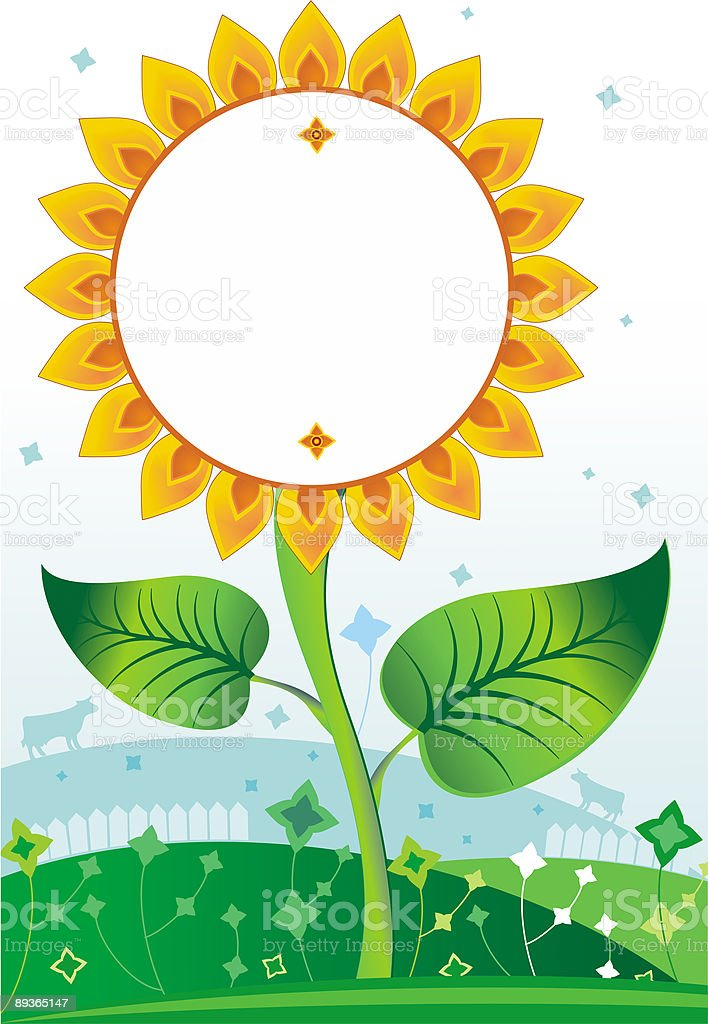 Yellow  blank sunflower royalty-free yellow blank sunflower stock vector art & more images of agriculture