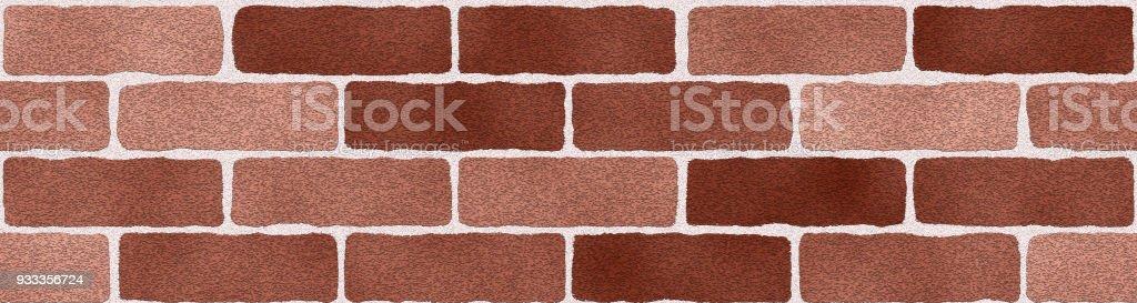 Yellow brown bricks wall abstract background. Texture of bricks. Panorama - ilustração de arte vetorial