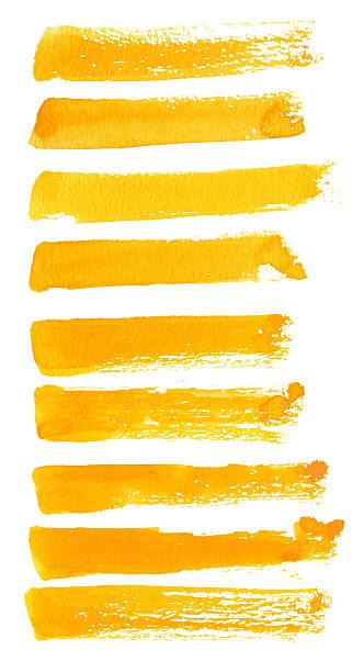 ilustrações, clipart, desenhos animados e ícones de pinceladas amarela - planos de fundo borrados