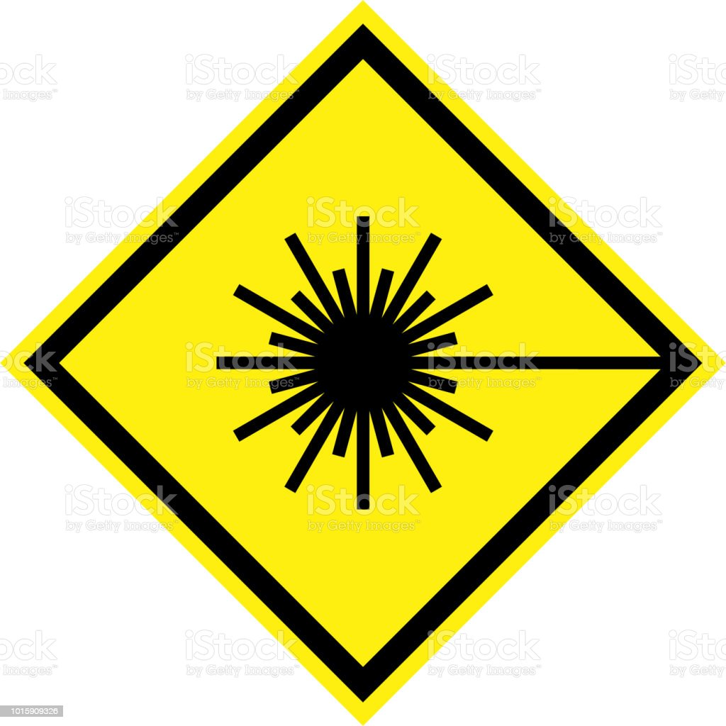 yellow-hazard-sign-with-laser-beam-symbol-illustration-id1015909326