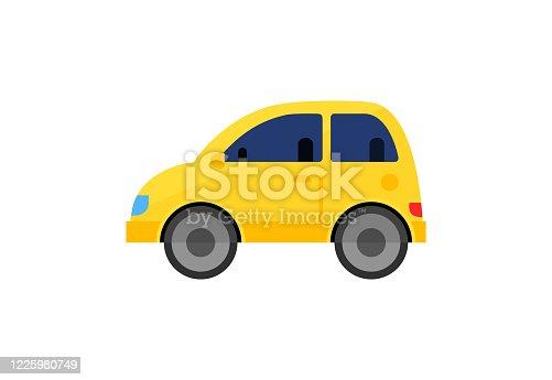 istock Yellow juke car illustration 1225980749