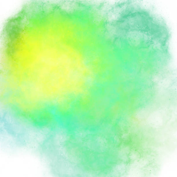 Yellow light green stains of watercolor paint with a gradient. Abstract backdrop wallpaper background, beautiful texture stains of paint Yellow light green stains of watercolor paint with a gradient. Abstract backdrop wallpaper background, beautiful texture stains of paint digital illustration airbrush stock illustrations