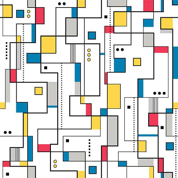 bildbanksillustrationer, clip art samt tecknat material och ikoner med yellow red and blue abstract background - konststilar