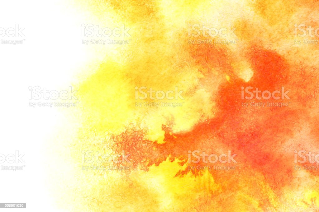 Yellow red watercolor background vector art illustration