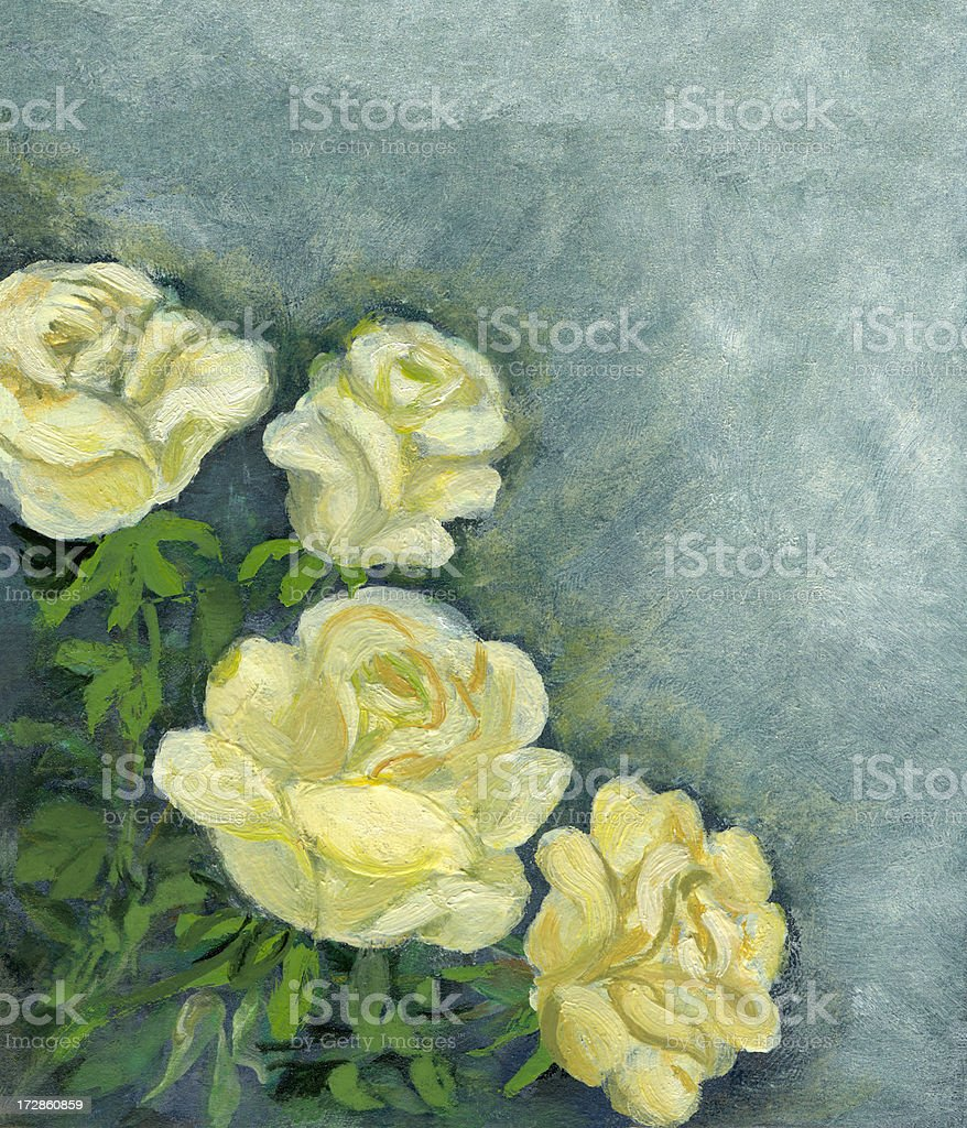 Yellow Roses Border royalty-free yellow roses border stock vector art & more images of acrylic painting