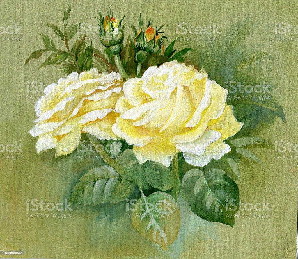 Yellow roses royalty-free stock vector art