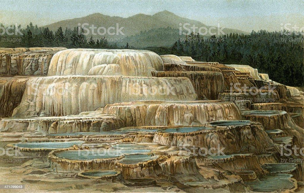 Yellowstone vector art illustration
