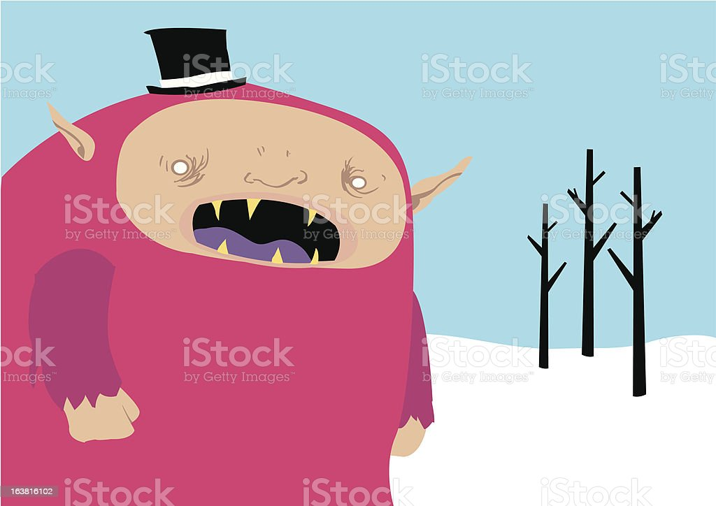 Yeti royalty-free stock vector art
