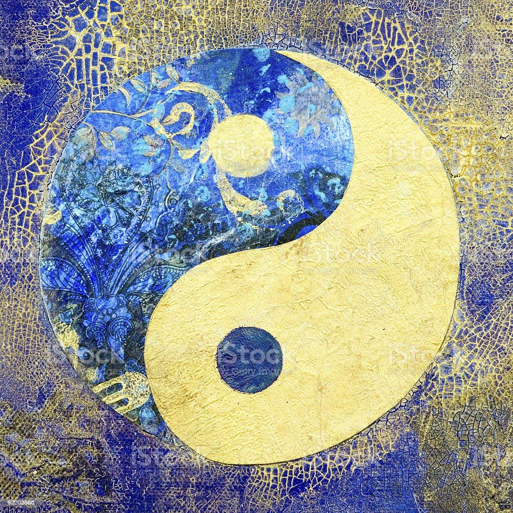Ying and Yang vector art illustration