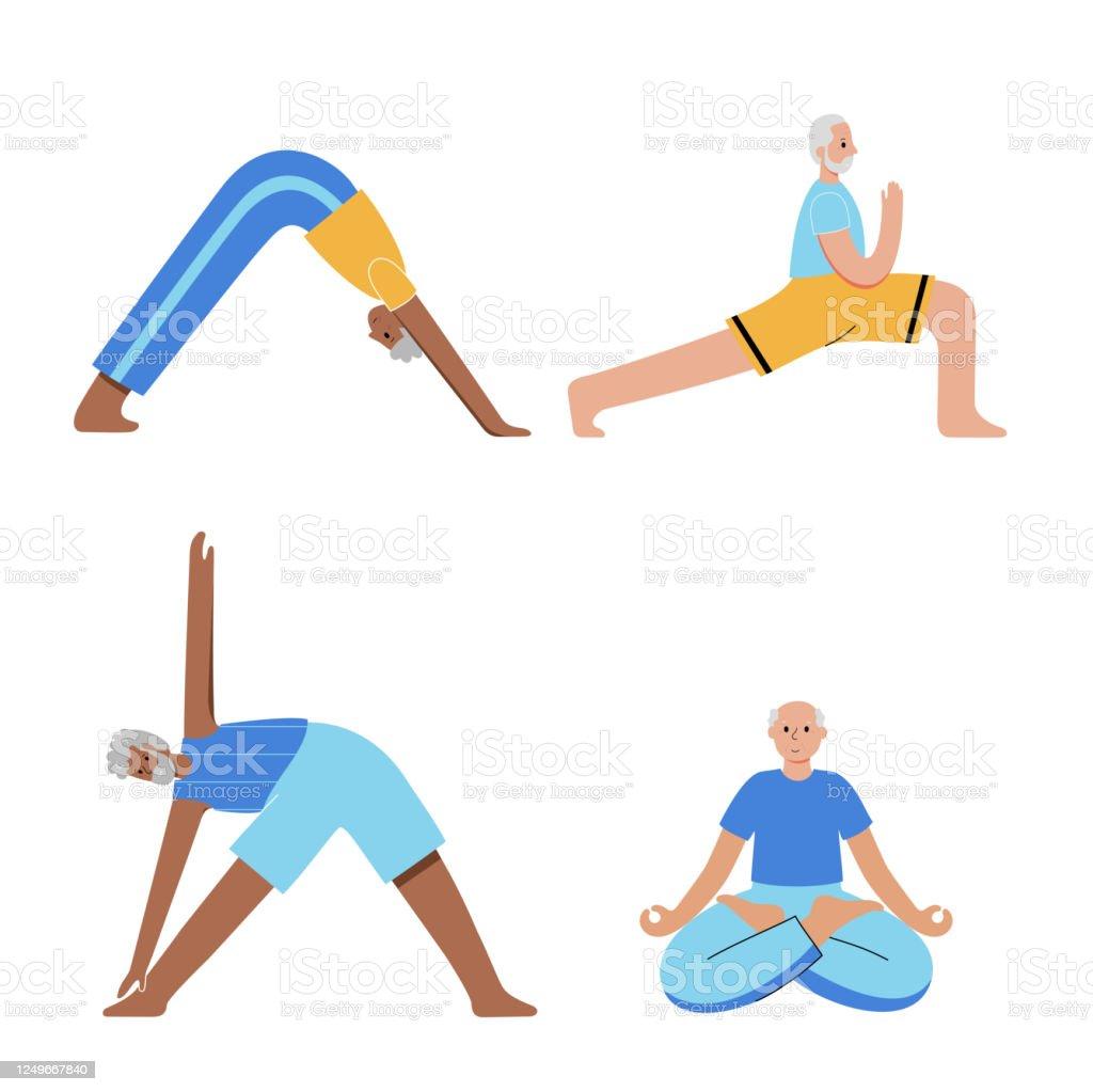 Yoga Flat Vector Illustration Healthy Lifestyle Stock Illustration Download Image Now Istock