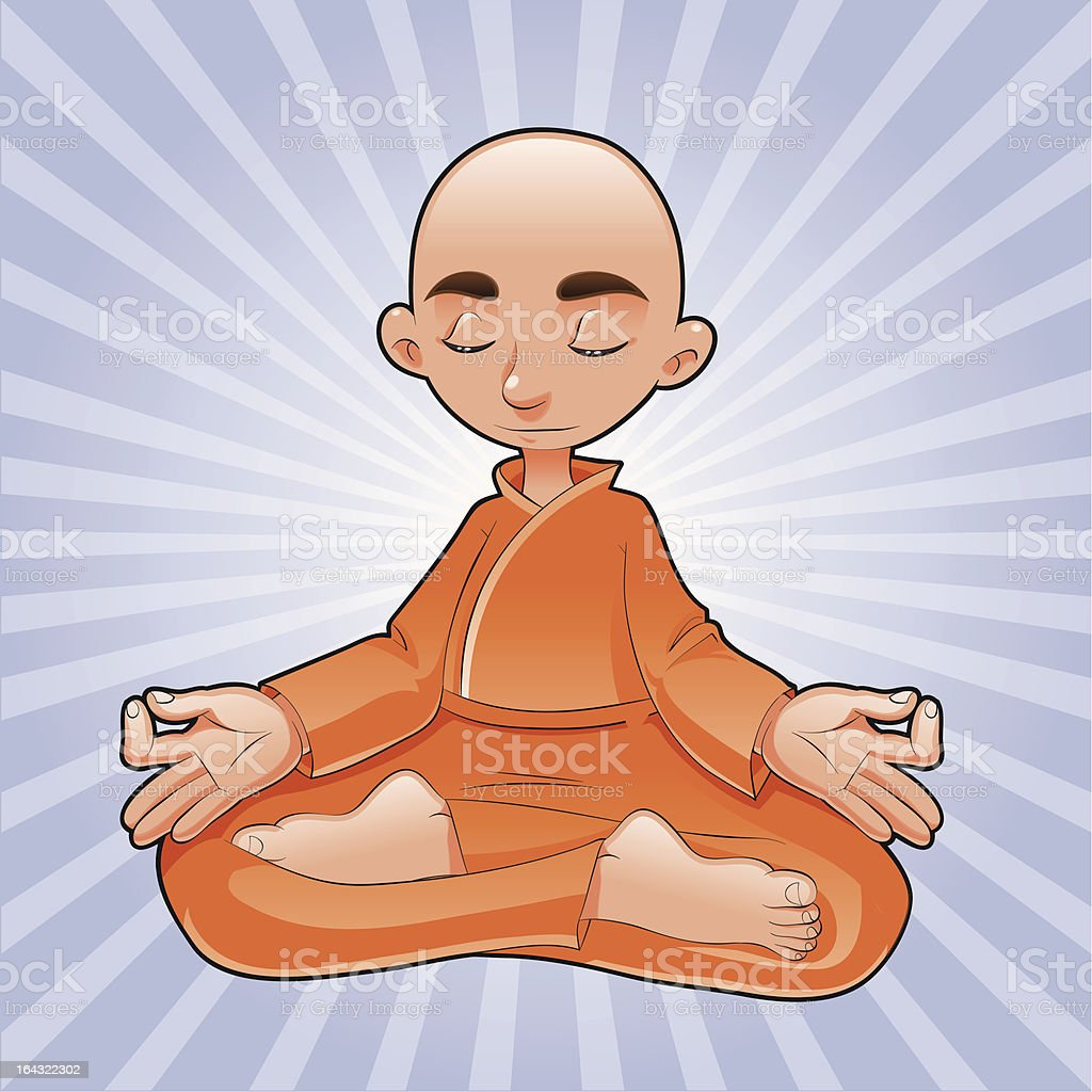 Yoga Lotus royalty-free stock vector art