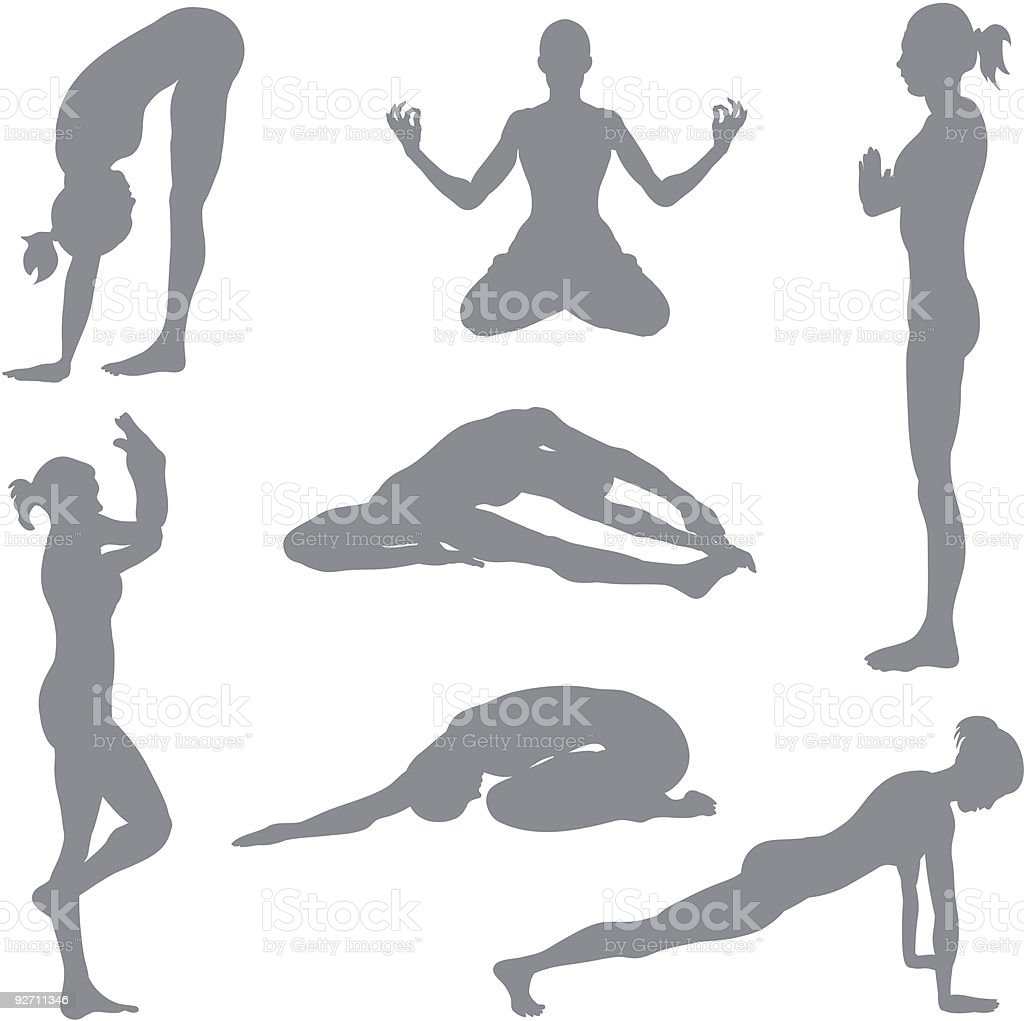 Yoga postures royalty-free stock vector art