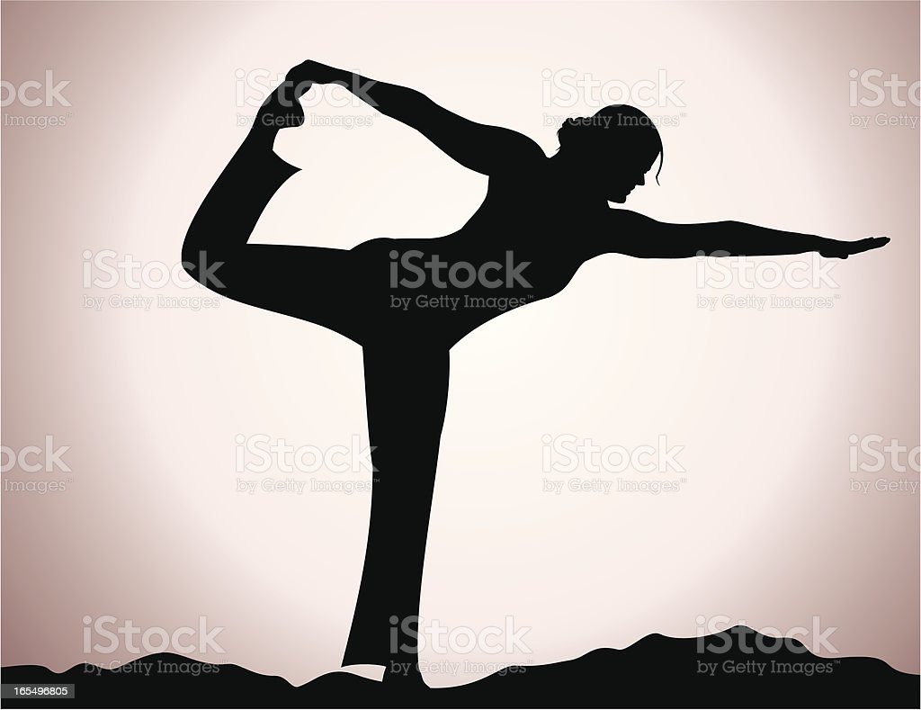 Yoga Silhouette royalty-free yoga silhouette stock vector art & more images of adult