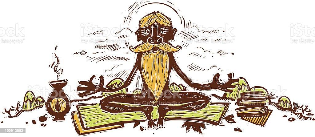 Yogi - ilustración de arte vectorial