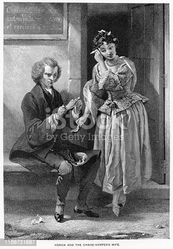 istock Yorick and the Chaise-Vamper's Wife engraving 1892 1159731687