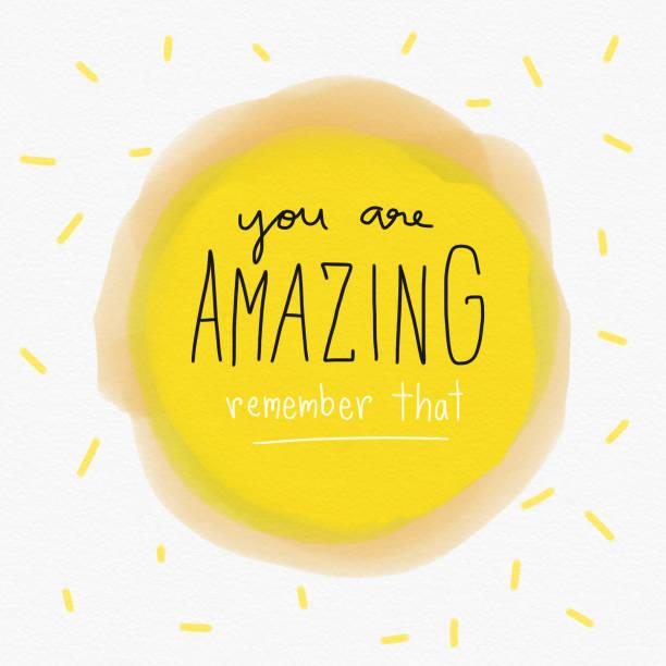 あなたは素晴らしい黄色の水彩背景イラストをその単語文字を覚えています。 - wow点のイラスト素材/クリップアート素材/マンガ素材/アイコン素材