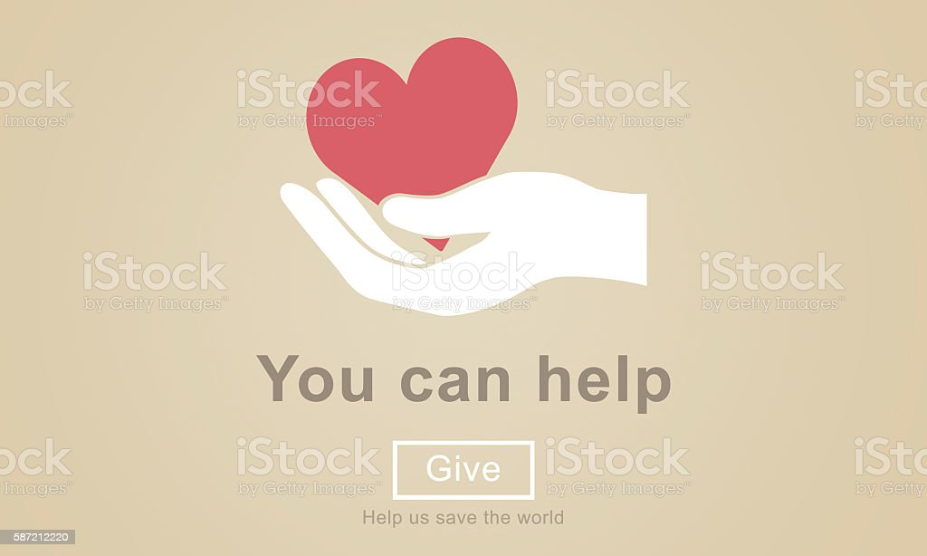 You Can Help Give Welfare Donate Concept vector art illustration
