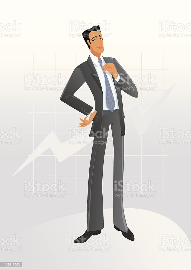 Young businessman royalty-free stock vector art