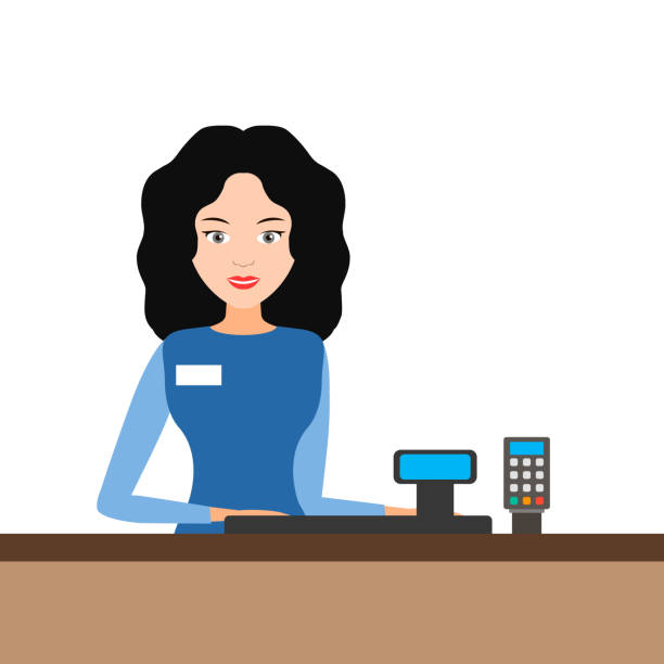 Cashier Cartoons: Top 60 Cartoon Cash Register Clip Art, Vector Graphics And