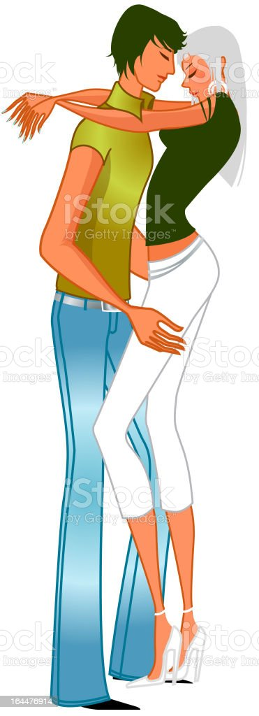 Young Couple making love royalty-free stock vector art