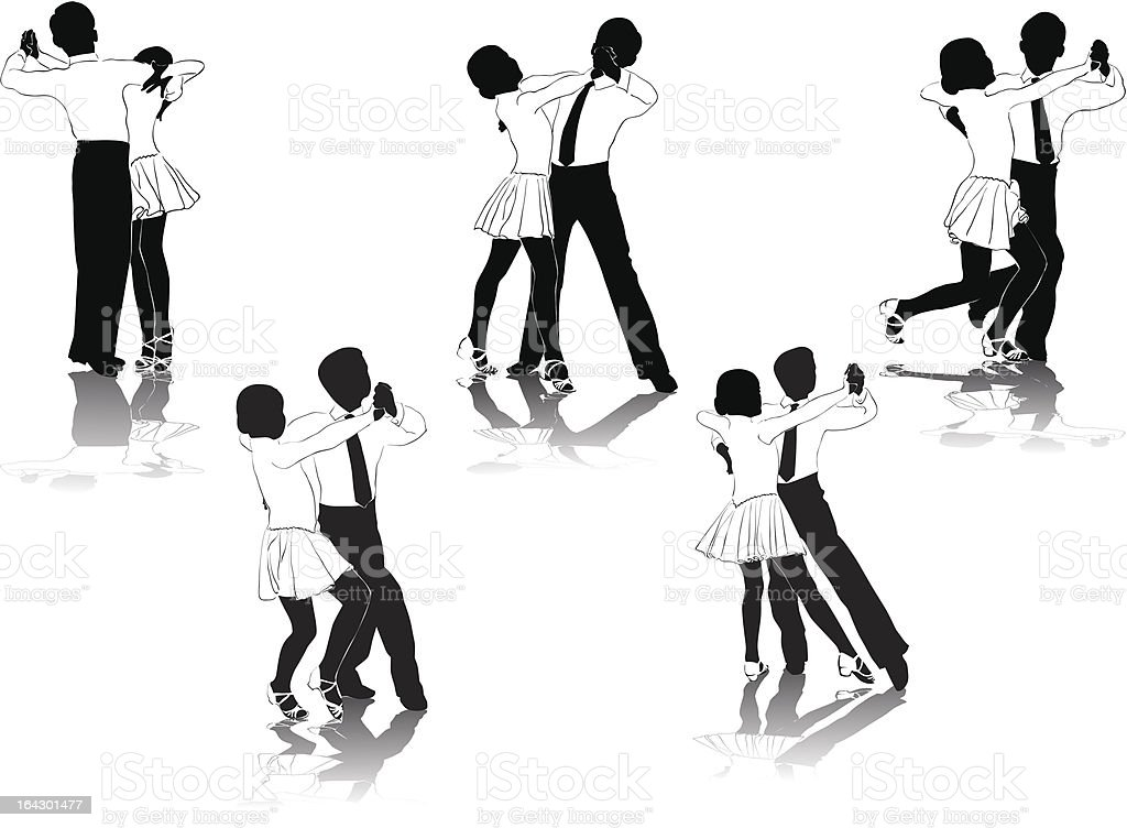 Young Dancers royalty-free stock vector art