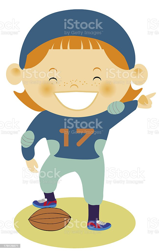 young football player royalty-free stock vector art
