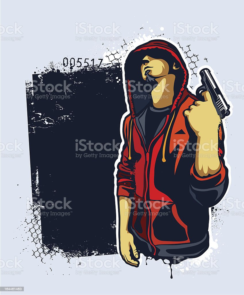 Young Gangster With Gun Stock Vector Art 164461463 Istock