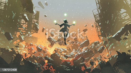 istock young girl with the evil power 1267012409