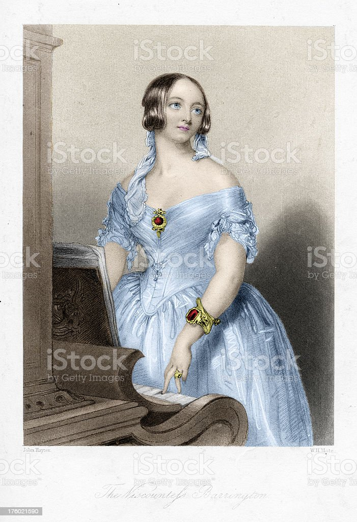Young Victorian woman at piano royalty-free young victorian woman at piano stock vector art & more images of 1830s style