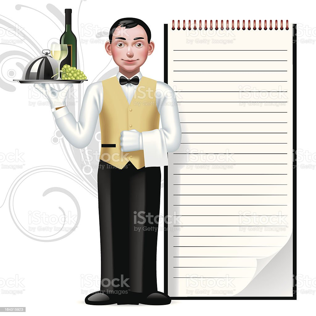 Young waiter royalty-free young waiter stock vector art & more images of adult