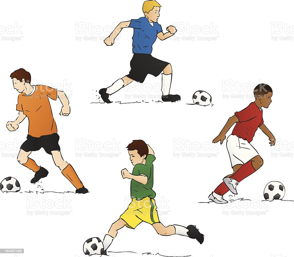 Youth Soccer (Vector Illustration) royalty-free stock vector art