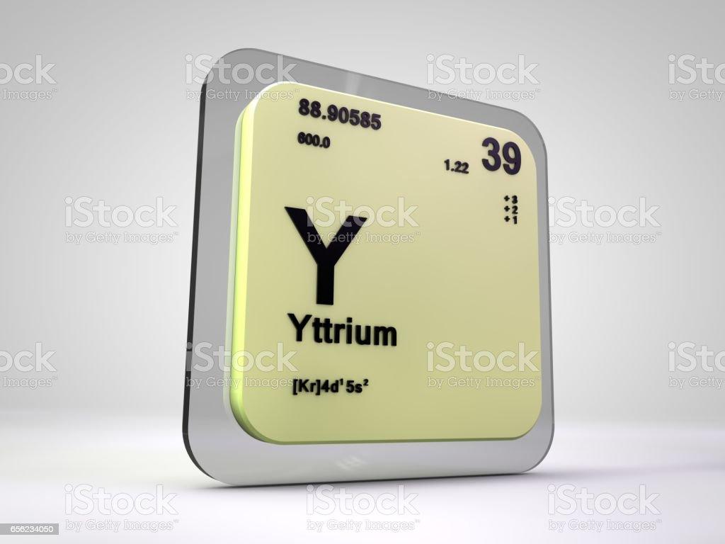 Yttrium y chemical element periodic table 3d render stock vector yttrium y chemical element periodic table 3d render royalty free stock vector art gamestrikefo Choice Image