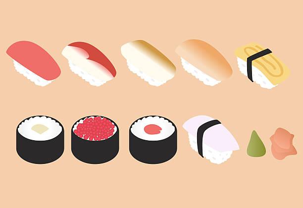 ヤミー寿司セット - 寿司点のイラスト素材/クリップアート素材/マンガ素材/アイコン素材