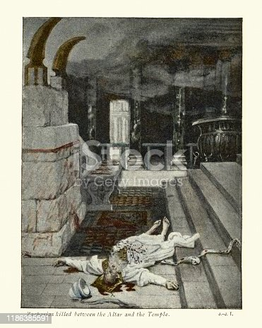 istock Zacharias killed between the altar and the temple 1186385591
