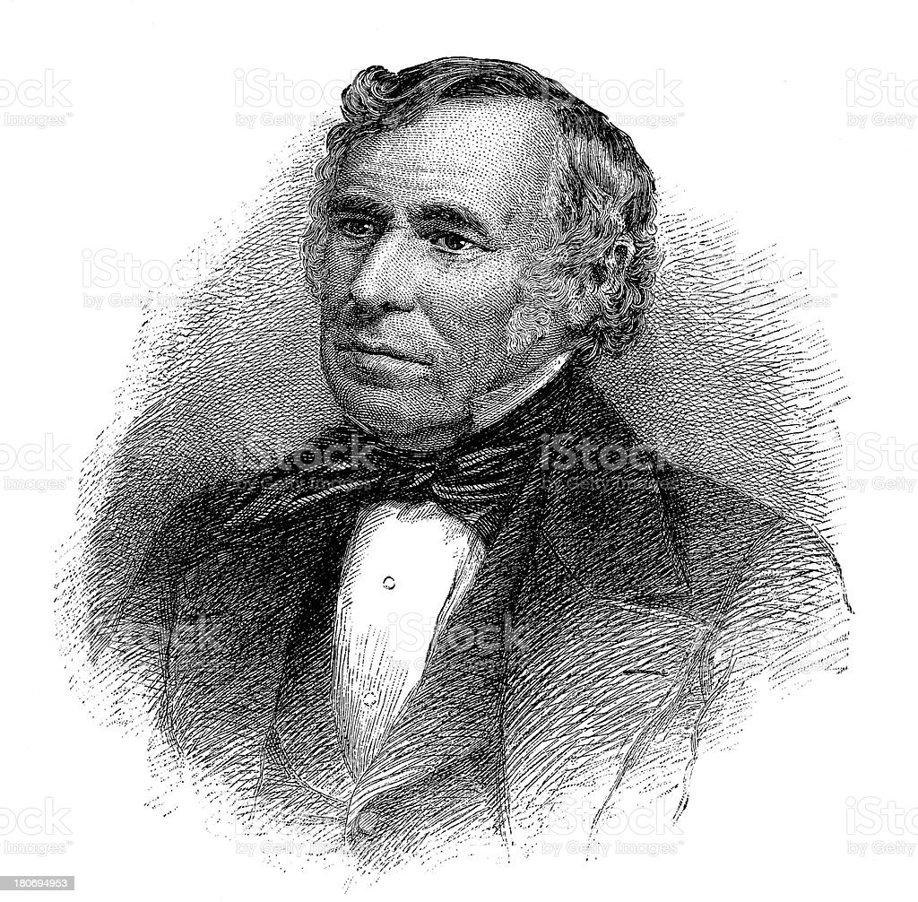 Zachary Taylor,12th President of United States royalty-free stock vector art