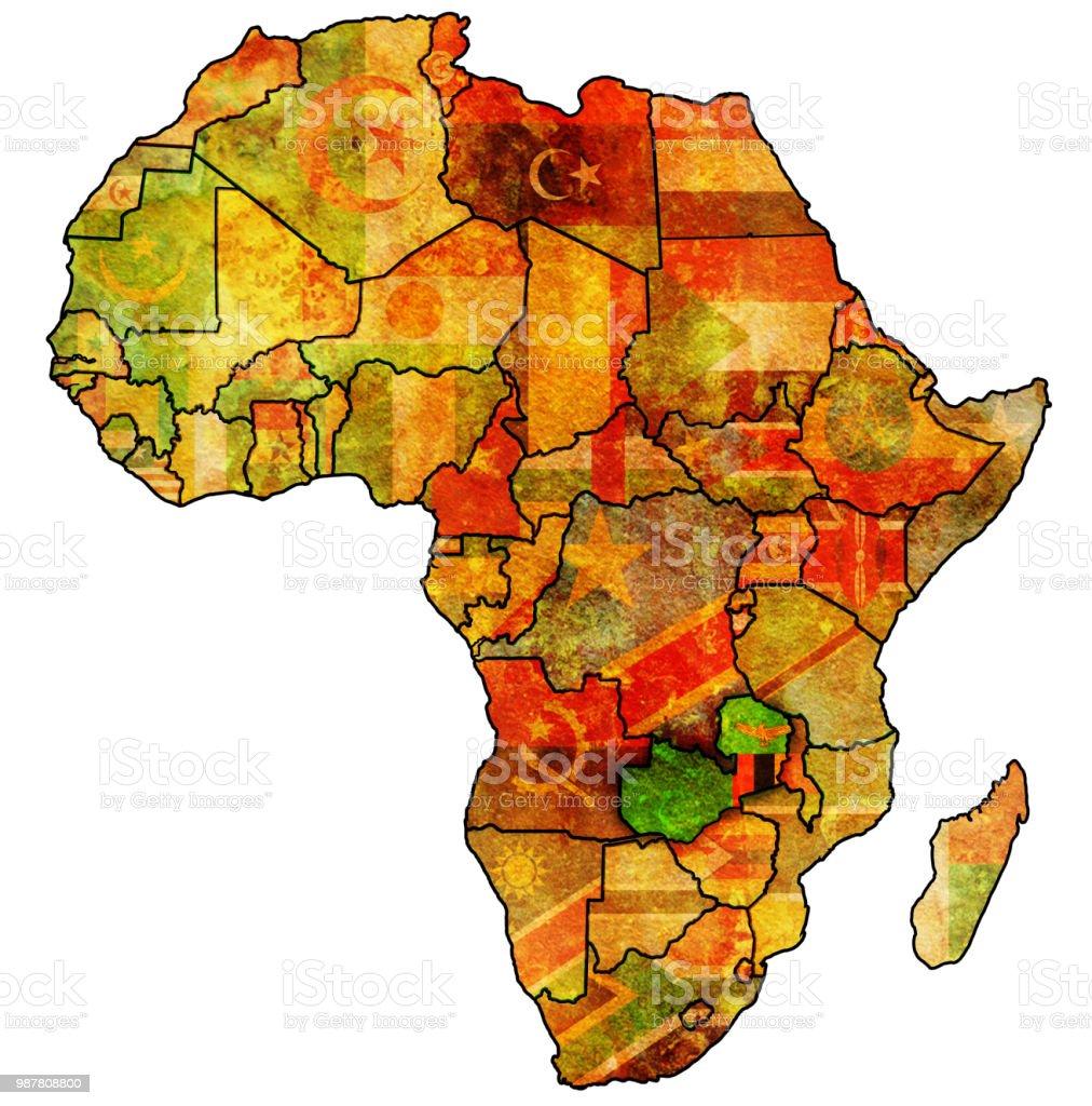 Carte Afrique Zambie.Zambie Sur La Carte Politique De Lafrique Vecteurs Libres De Droits Et Plus D Images Vectorielles De Afrique