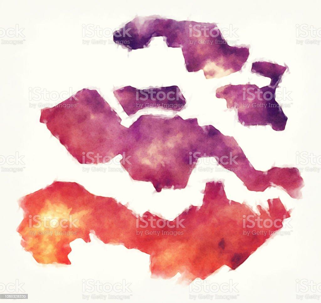 Zeeland Karte Niederlande.Zeeland Province Karte Der Niederlande Vor Einem Weißen Hintergrund