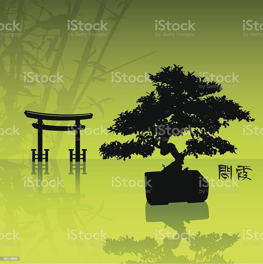 Zen Garden vector art illustration