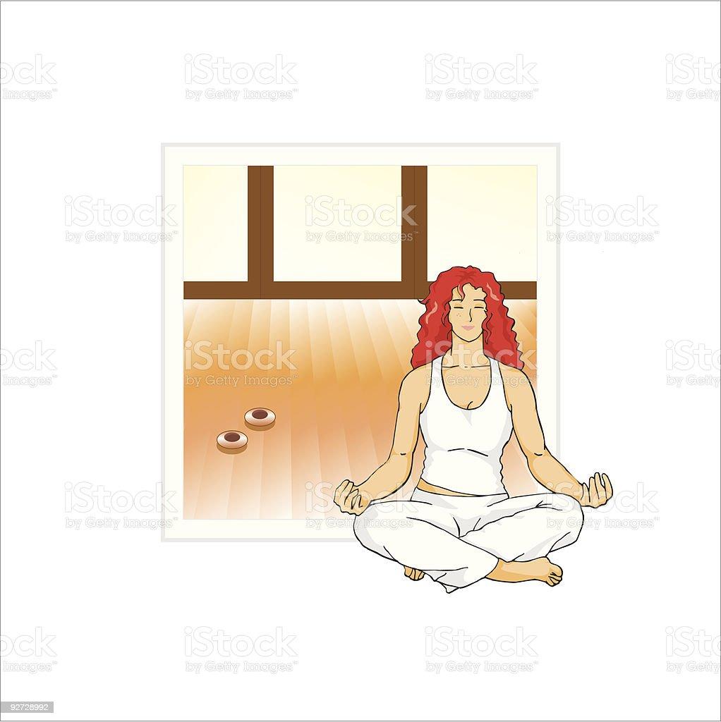 Zen meditation royalty-free stock vector art