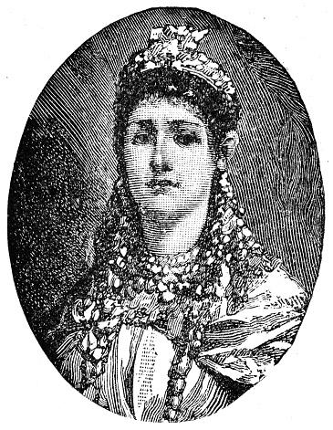 Zenobia Queen of Palmyra engraving 1894