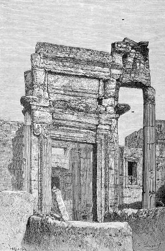 Zenobia's palace in Palmyra