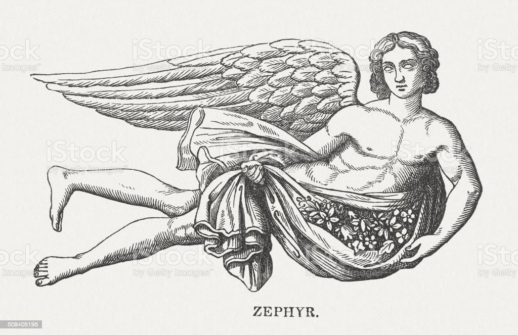 Céfiro - Ilustración de stock de Anticuado libre de derechos
