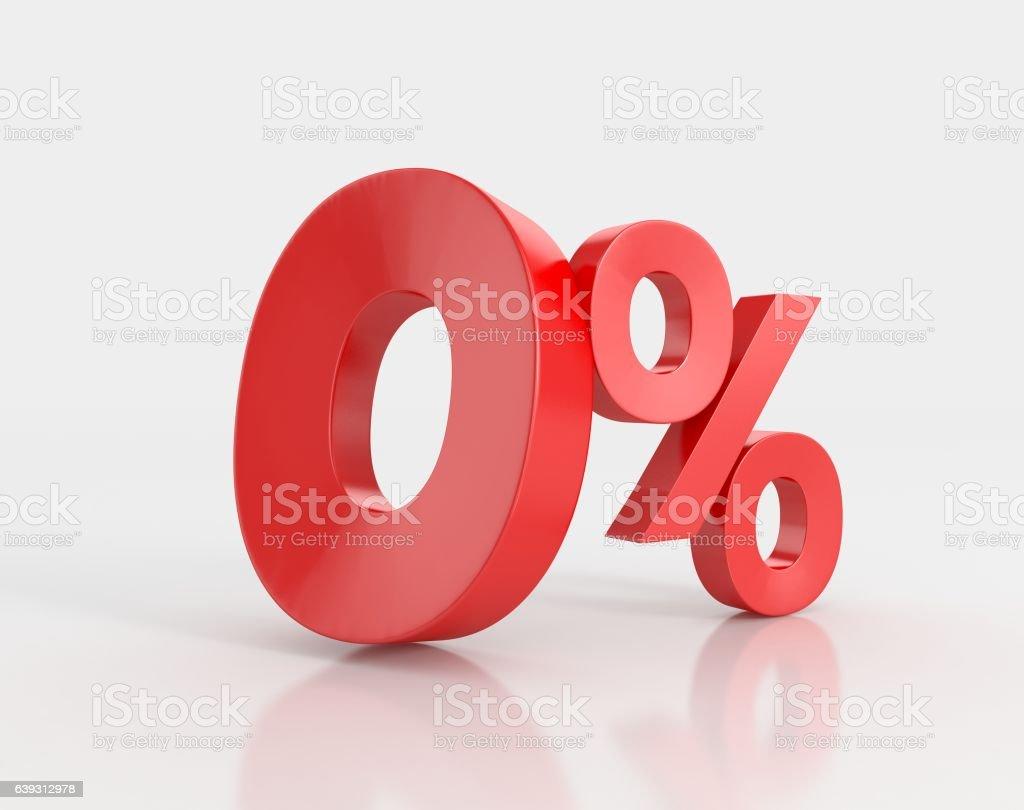 zero percent, isolated on white background vector art illustration