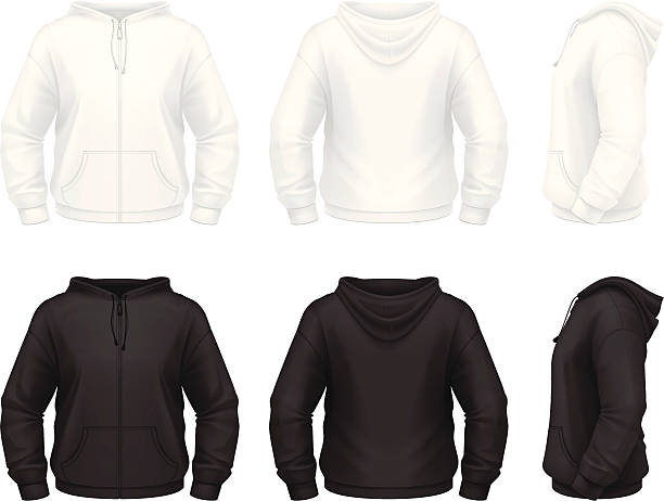 Zip hoodie vector art illustration